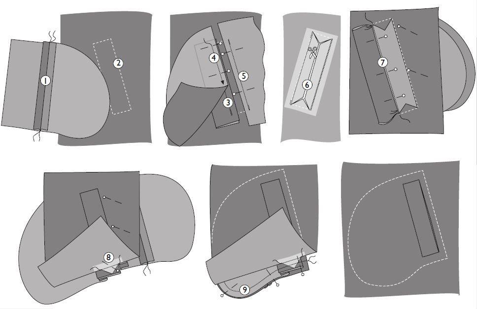 карманы с листочкой фото