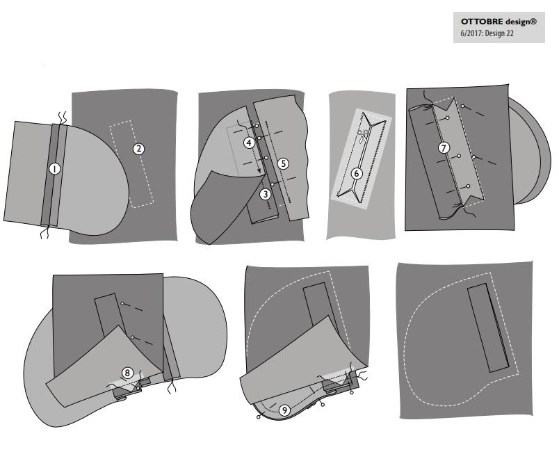 карман с листочкой выкройка оттобре