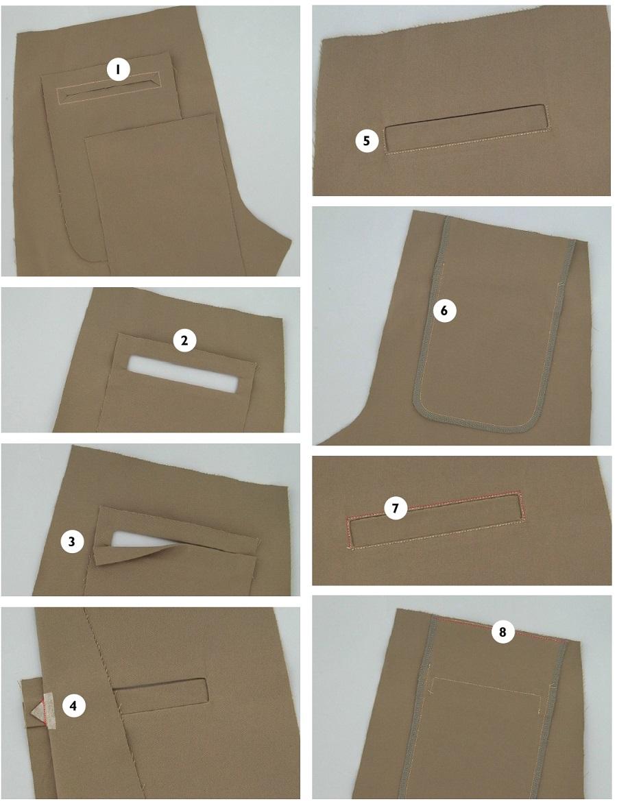 Брючный карман с листочкой выкройка оттобре