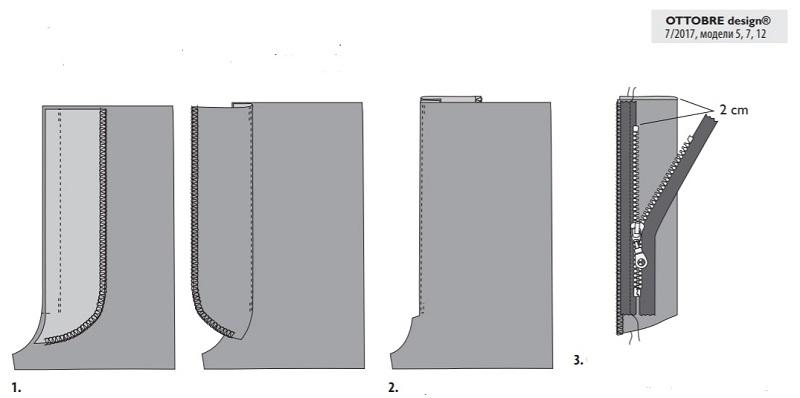 Брючная застежка молния II выкройка оттобре