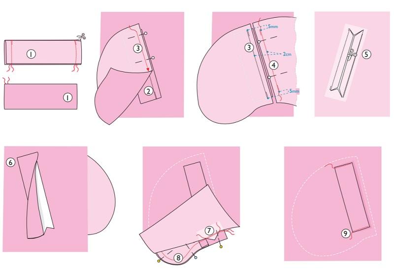 Прорезной брючный карман выкройка оттобре