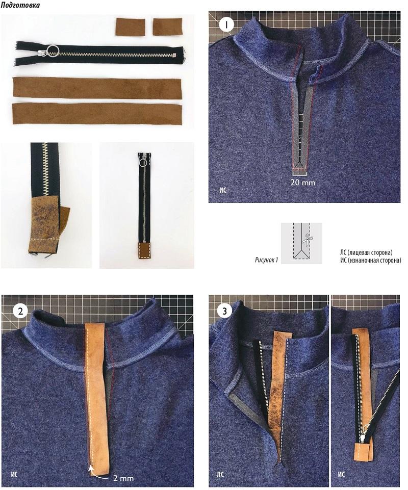 Застежка молния для свитера выкройка оттобре
