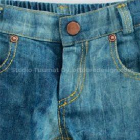 Застежка на молнию брюк
